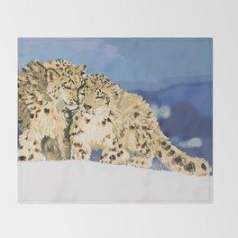 Snow leopards Throw Blanket