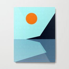 Abstract and geometric landscape 10 Metal Print