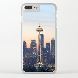 Space Needle Skyline Seattle Clear iPhone Case