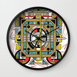 Switchplate - Surreal Geometric Abstract Expressionism Wall Clock