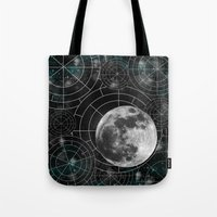 borderlands Tote Bags featuring Midnight by Astrablink7