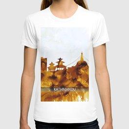 Kathmandu Nepal Skyline T-shirt