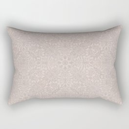 Damask Pattern Smoke Rose Rectangular Pillow