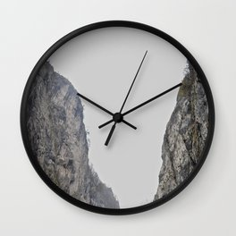 Twin Mountains Wall Clock