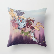 We're off! Throw Pillow