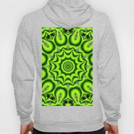 Spring Garden Mandala, Abstract Star Burst Delightful Spirals Hoody