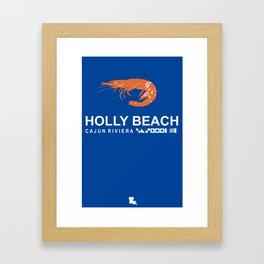 Holly Beach - Louisiana. Framed Art Print