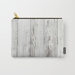 Wood Slatted plank fence background Carry-All Pouch