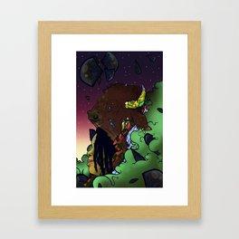 Buffalo Queen Framed Art Print