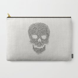 Grey Skull Illustration Carry-All Pouch