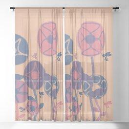 Honey bees Sheer Curtain