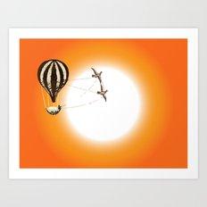Harnessed Flight 1 Art Print