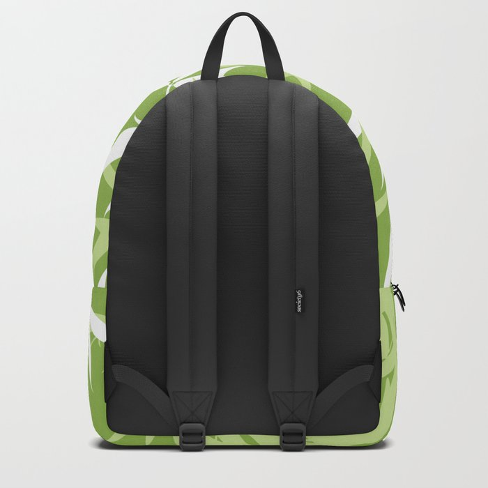 Green Bamboo Leaves Unique Pattern Backpack