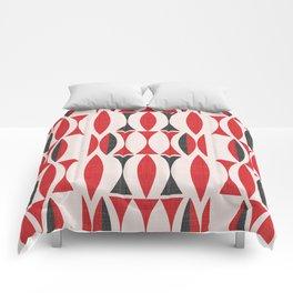 Seventies in Cherry Red (little) Comforters