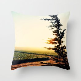 Rise to the West Throw Pillow