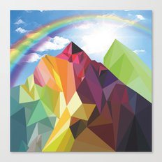 Rainbow Mountains Canvas Print