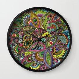 Evie's Garden Paisley Wall Clock