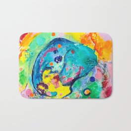 Joyful Elephant Bath Mat