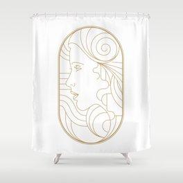 Girl Art Deco 08 Shower Curtain