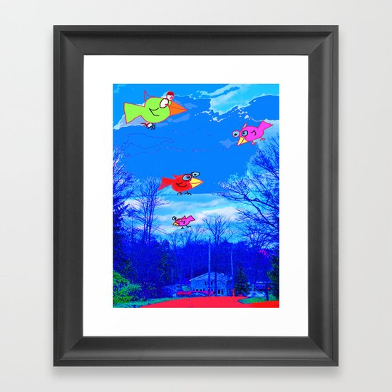 Happy Bird Day! Framed Art Print