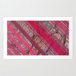 Pink  & Rock Art Print