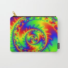 """Psyspiral"" Psychedelic Spiral Fractal Art Carry-All Pouch"
