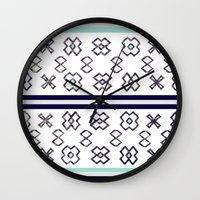 infinity Wall Clocks featuring Infinity by Bunhugger Design