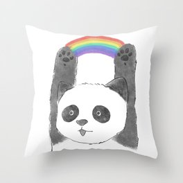 panda beam Throw Pillow