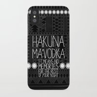 hakuna iPhone & iPod Cases featuring Hakuna Ma'Vodka by Sara Eshak