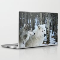 wolves Laptop & iPad Skins featuring Wolves by Danielle Perry