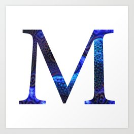 "Initial letter ""M"" Art Print"