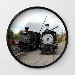 In the Passing Lane at Chama Depot Wall Clock