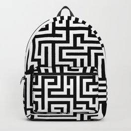 Black and white Labyrinth Backpack