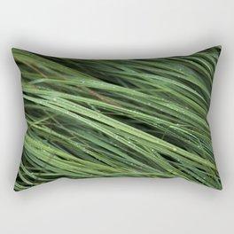 Dew Covered Grass Rectangular Pillow