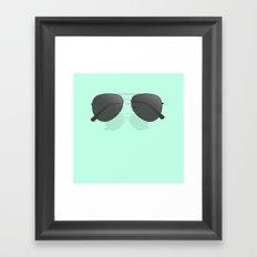Aviator sunglasses Framed Art Print