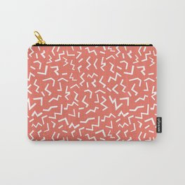 memphis zig zag modern minimal abstract pattern trendy gifts Carry-All Pouch