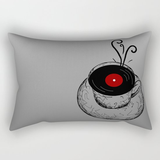 Music & Tea Rectangular Pillow