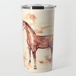 Horse sepia illustration Travel Mug