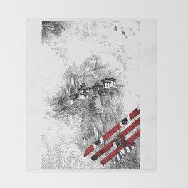 asc 164 - The Red Baron & Newton I (Le château des nuages) Throw Blanket