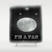 lunar Shower Curtains featuring LUNAR by Laake-Photos