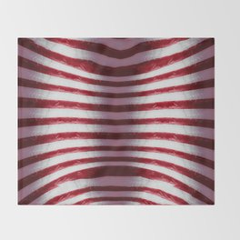 Red and White Organic Rib Cage Throw Blanket