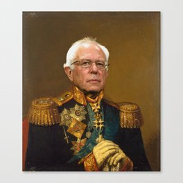 Bernie Sanders 19th Century Painting Canvas Print