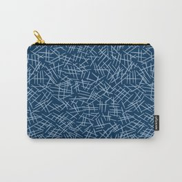 Classic Blue Scratches Carry-All Pouch