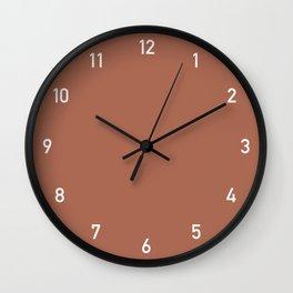 Clock numbers clay Wall Clock