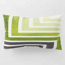 Sap Green Mid Century Modern Watercolor Colorful Ancient Aztec Art Pattern Minimalist Geometric Patt Pillow Sham