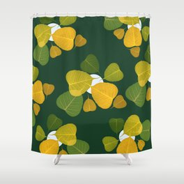 dead leaf club Shower Curtain