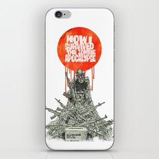 How I Survived The Zombie Apocalypse (colour option) iPhone & iPod Skin