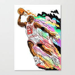 Air Time with Mike Canvas Print