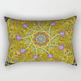 Gold Swirl Rectangular Pillow