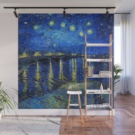 Starry Night Over the Rhone by Vincent van Gogh Wall Mural